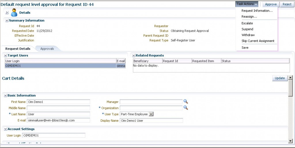 Oracle Identity Manager Approval Process