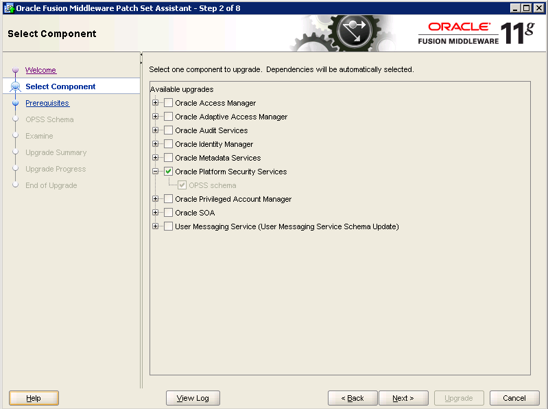 Oracle-Identity-Manager-11gR2-Upgrade OPSS schema 2