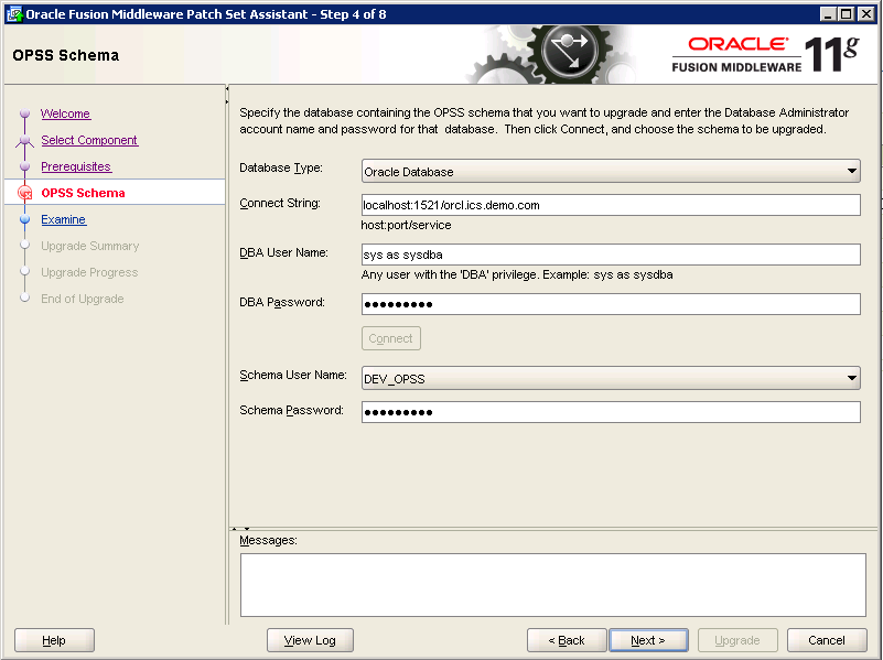 Oracle-Identity-Manager-11gR2-Upgrade OPSS schema 4