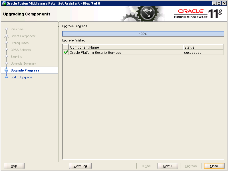 Oracle-Identity-Manager-11gR2-Upgrade OPSS schema 7