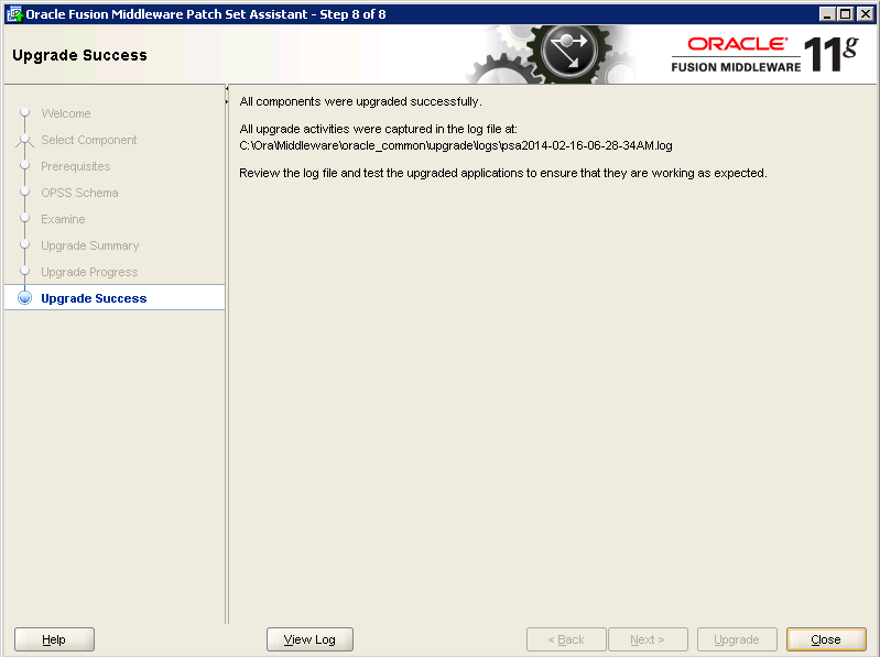 Oracle-Identity-Manager-11gR2-Upgrade OPSS schema 8